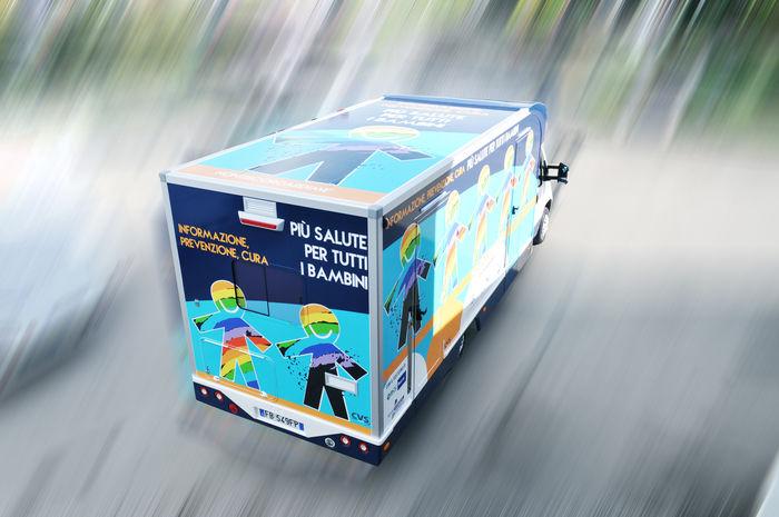veicolo speciale medicale ambulatorio mobile pediatria