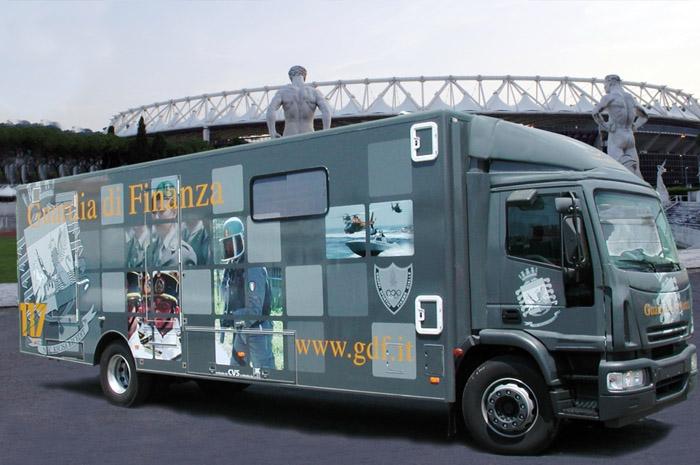 ufficio mobile Guardia di finanza CVS
