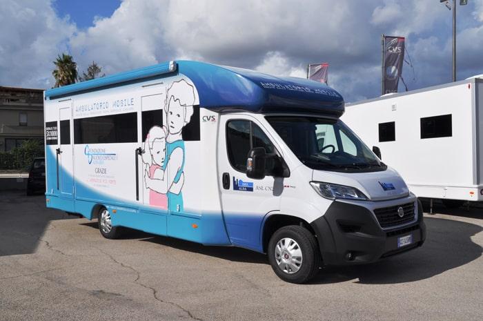 ambulatori polidiagnostico mobile disabili veicoli prestazioni diagnostiche cvs