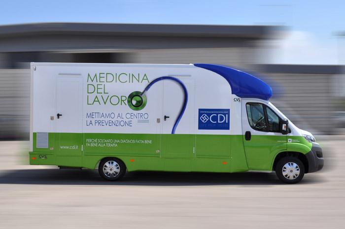 veicolo medicale ambulatorio medicina del lavoro